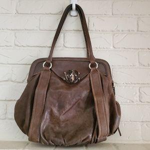 Cole Haan brown leahter large shoulder bag